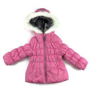 NEW Toddler Girls 2T Pink Winter Puffer Jacket